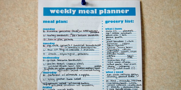 Meal Planner Lord Of The Rings