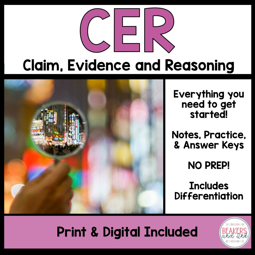 How To Teach Claims Evidence And Reasoning Cer Like A Pro