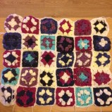 Sewn together (pre-border)
