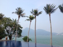 View from the infinity pool, Pangkor Laut