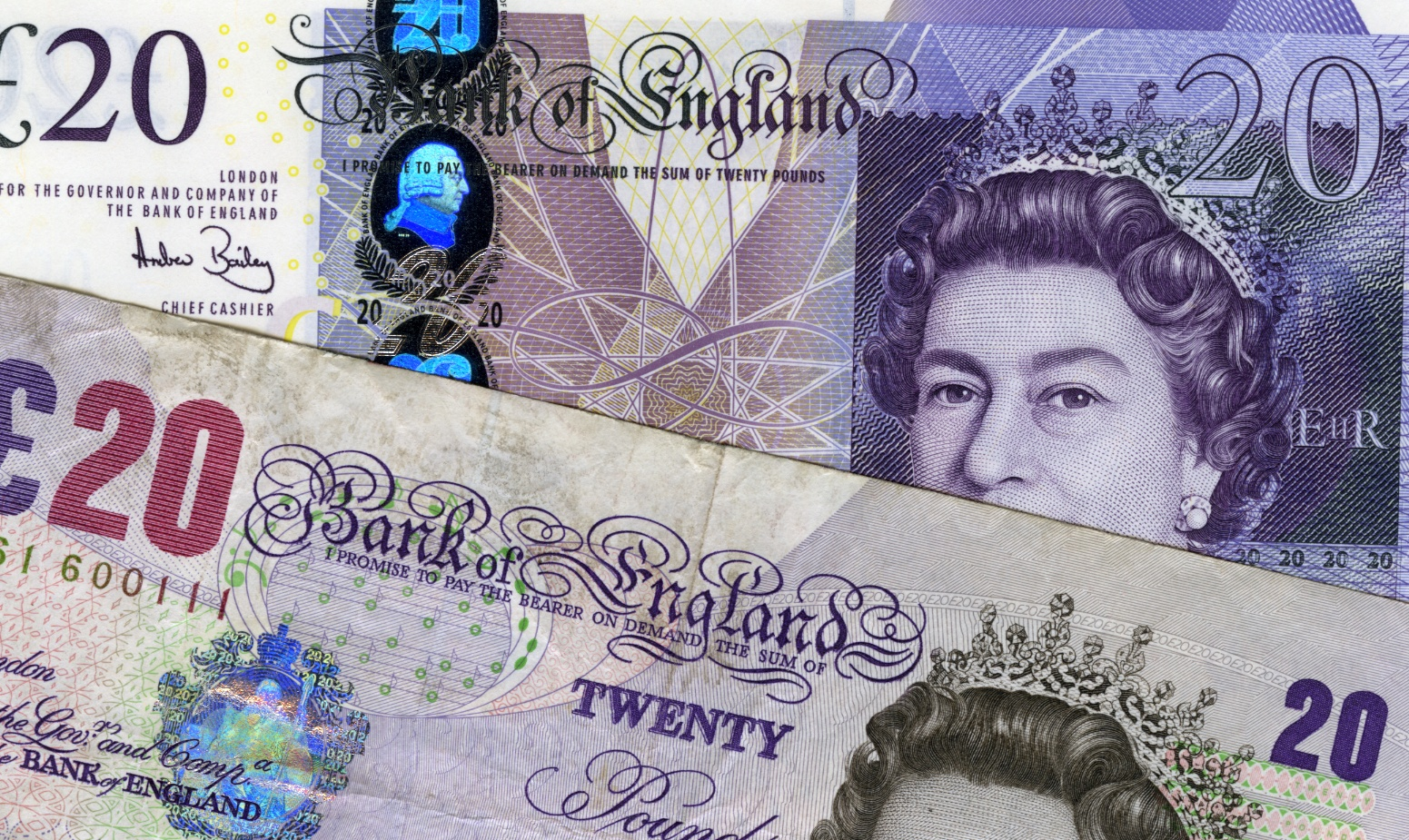UK-banknotes-old-and-new-GBP-20-twenty-pound-notes-purple-hue-front-1-DHD