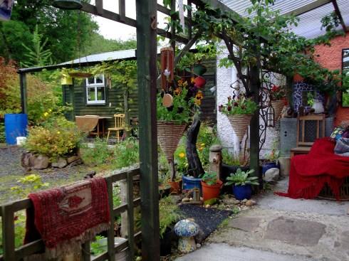 Bealtaine Cottage verandas and plants