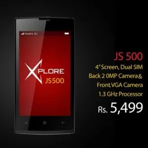 Mobilink Jazz X JS500 Price & Specifications