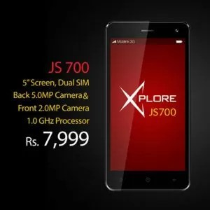 Mobilink Jazz X JS700 Price & Specifications