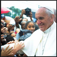 The Pope greets the people