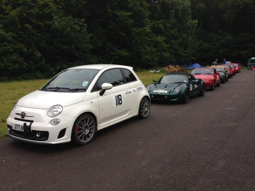 Never has a Fiat 500 looked so large. Most of the HSA class on the Sunday.