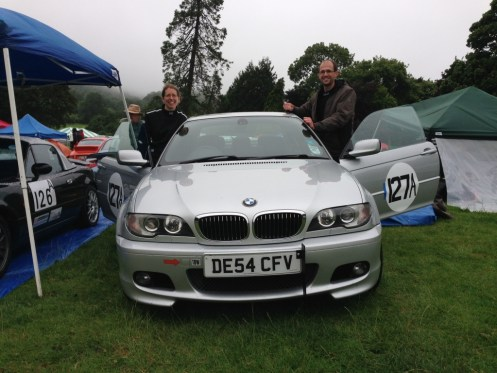 Sarah and Colin with their BMW 330ci