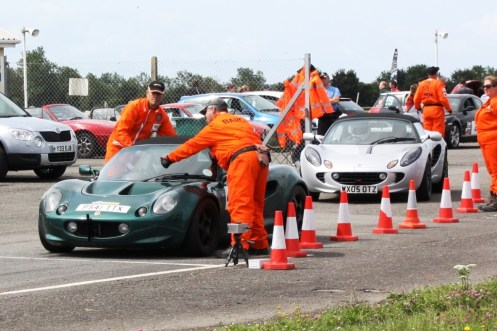 Me at the start with Andy in his Elise S2 behind.