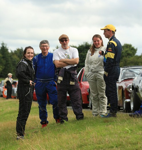 Another Rob MacDonald shot. Rachel, Roger Bibby, Me, Ruth Marshall and Martin Rutter at the top of the hill.