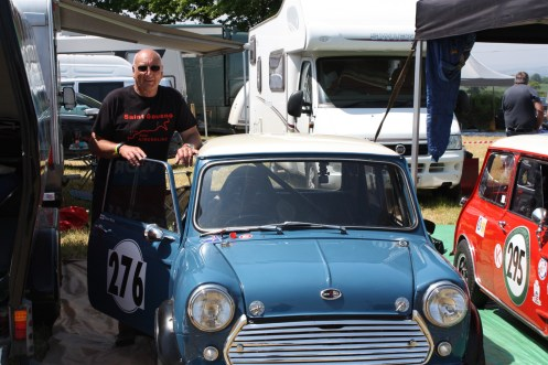 Loton regular Dave West with his classic Mini rather than his normal Loton drive his Peugeot 106 GTI. The French love Minis.