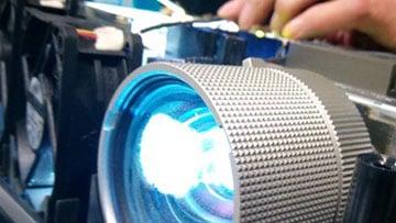 Bild Verunreinigter Beamer Filter, Beamerlampe