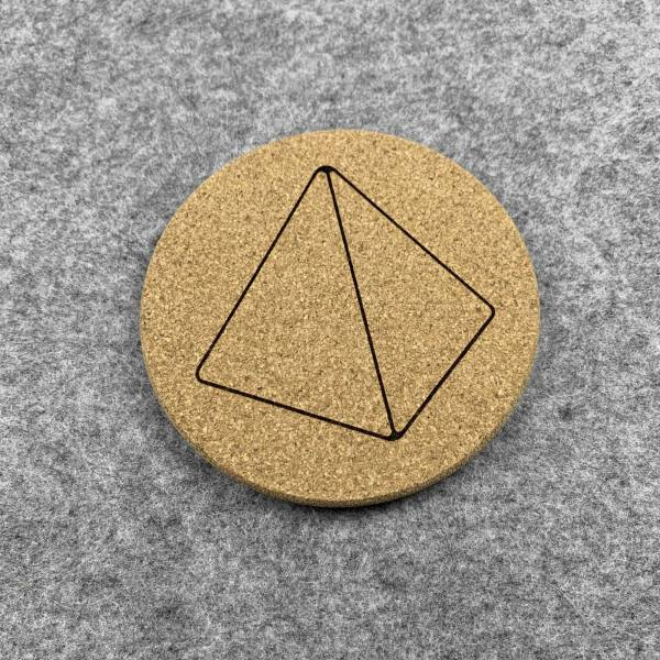 D4 - 4 Sided Dice Coaster