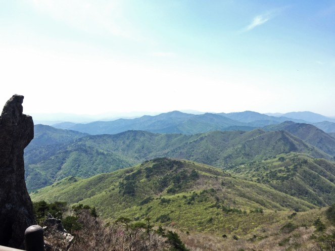 View from the top of Gayasan- above the neighbouring peak.
