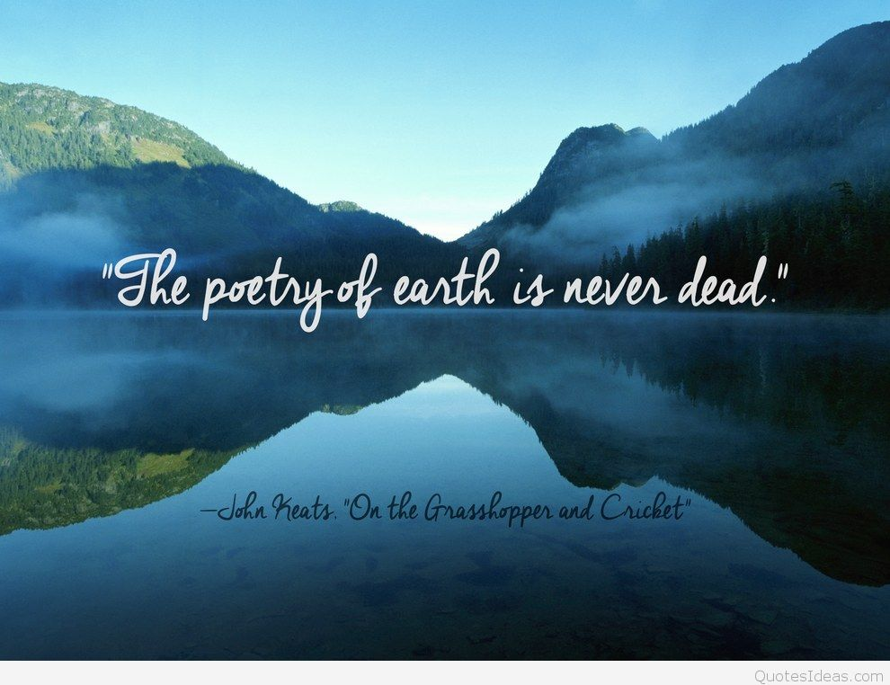 The Poetry of Earth by John Keats Analysis