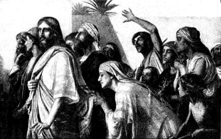 touching jesus cloak