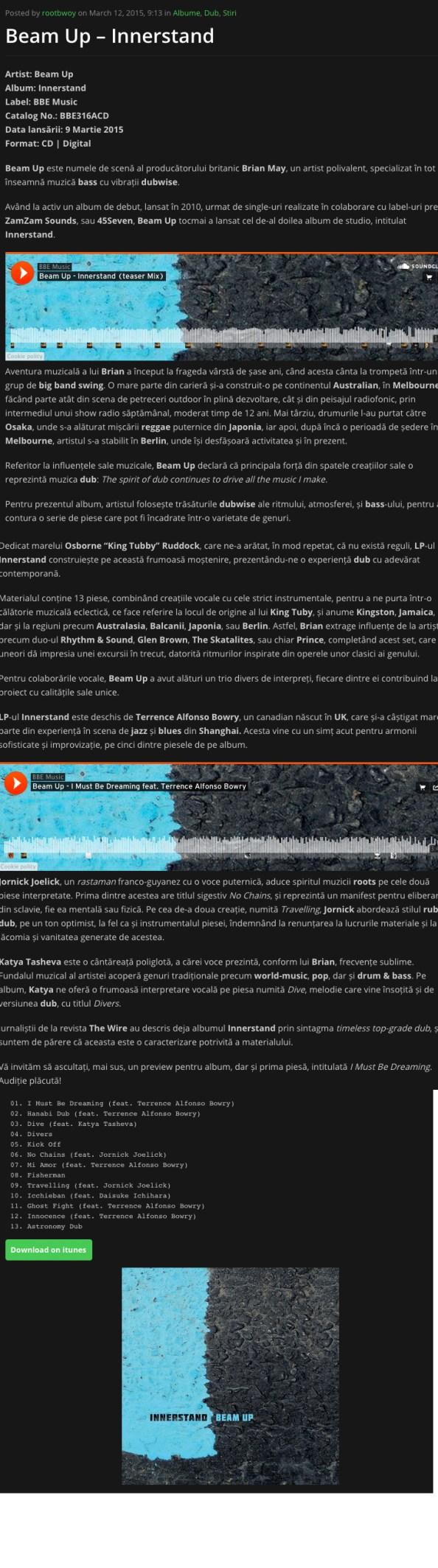 Review (Romainian) Zona Reggae Mar 15