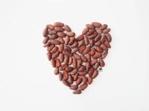 Cacao bean heart