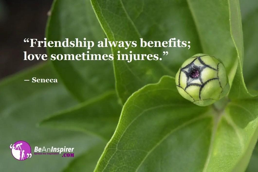 Friendship-always-benefits-love-sometimes-injures-Seneca-Top-100-Friendship-Quotes-Be-An-Inspirer
