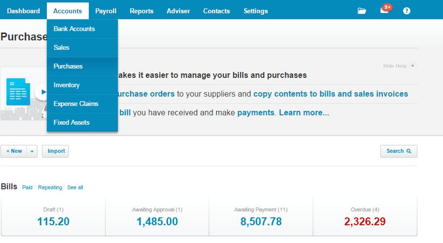 Entering a bill