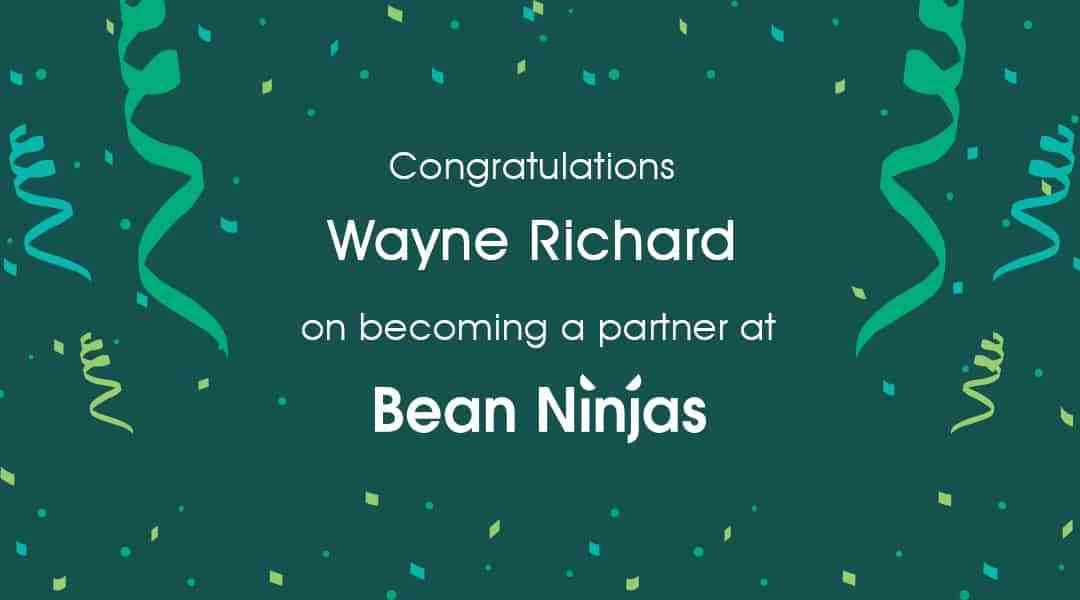 Bean Ninjas welcomes new partner Wayne Richard