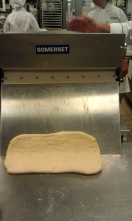 Sheeting the dough