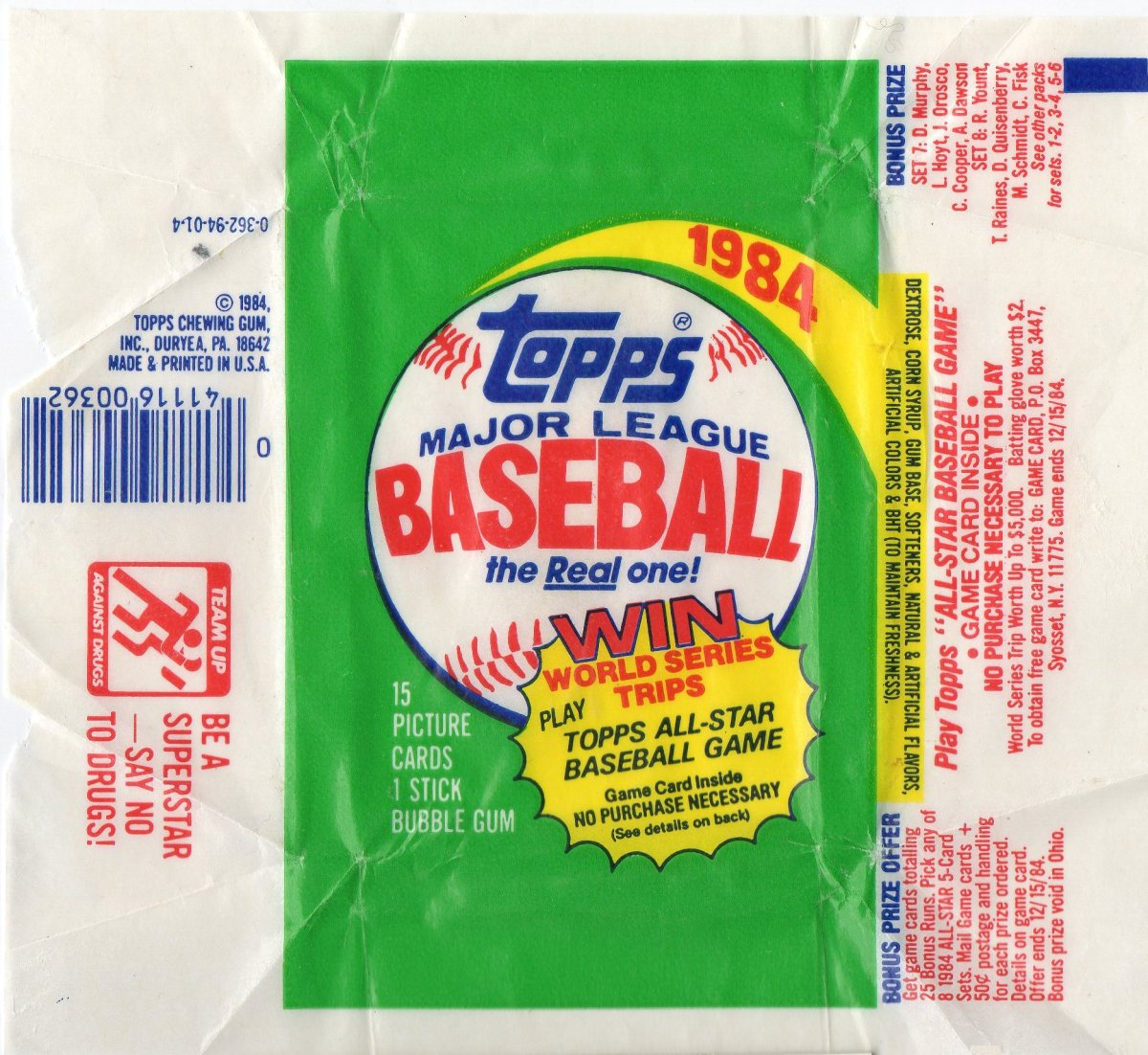 PACK BREAK: 1984 Topps Baseball
