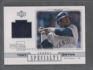 2001 Upper Deck Pros and Prospects Specialty Game Jersey #STG Tony Gwynn