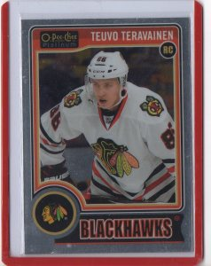 2014-15 O-Pee-Chee Platinum Variations #157 Teuvo Teravainen SP (white Jersey)
