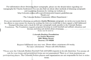 Justin Morneau Donation Request