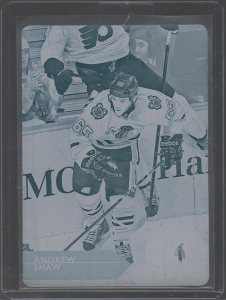 2014-15 Upper Deck Printing Plates Cyan #287 Andrew Shaw