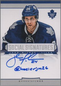2013-14 Panini Playbook Social Signatures #16 John-Michael Liles