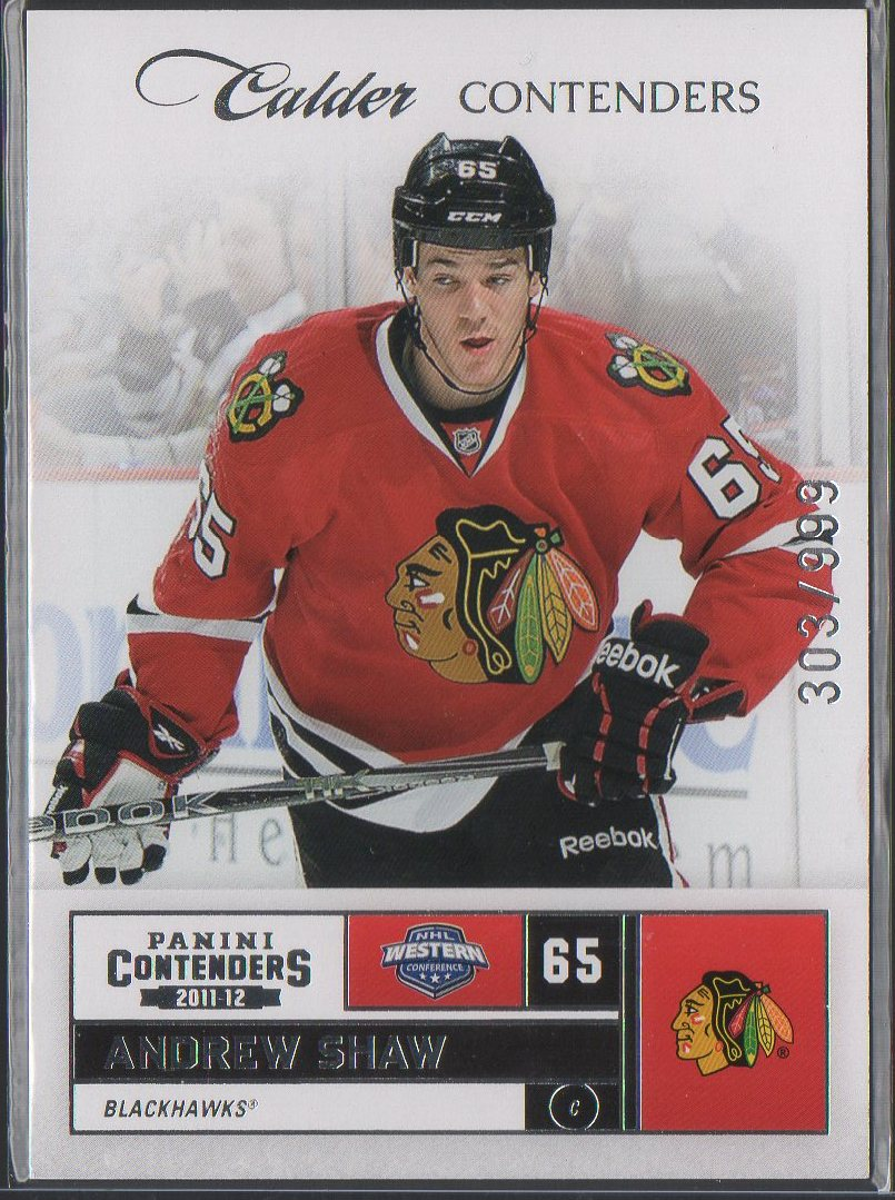 2011-12 Panini Contenders #261 Andrew Shaw