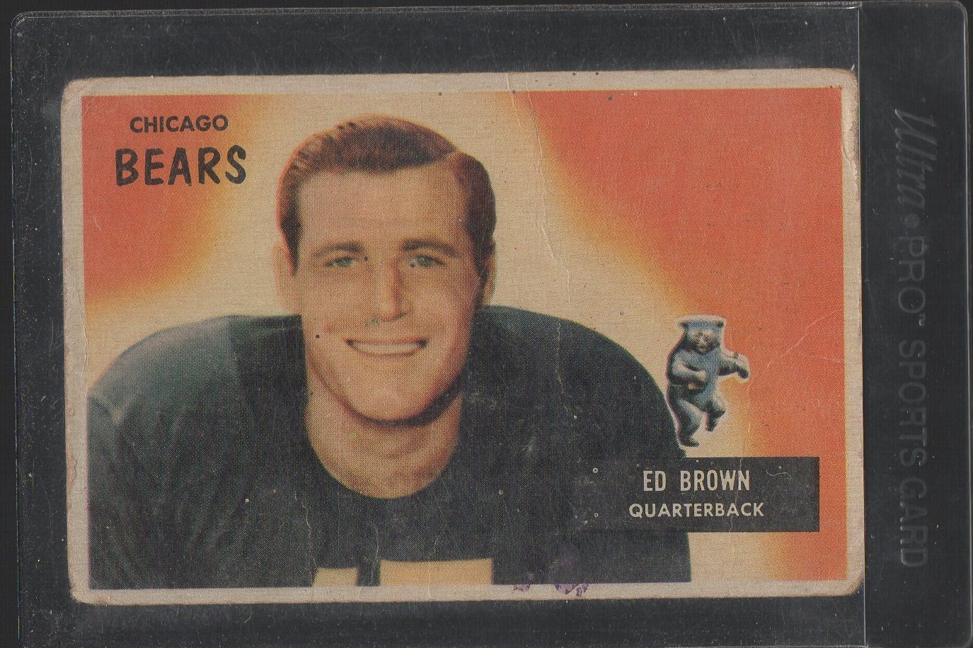 1955 Bowman #53 Ed Brown