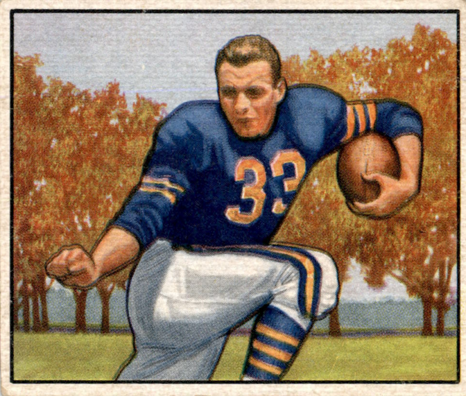 Vintage Football Card of the Day - 1950 Bowman #62 Bob Perina