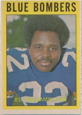 1972 O-Pee-Chee CFL #107 Ed Williams