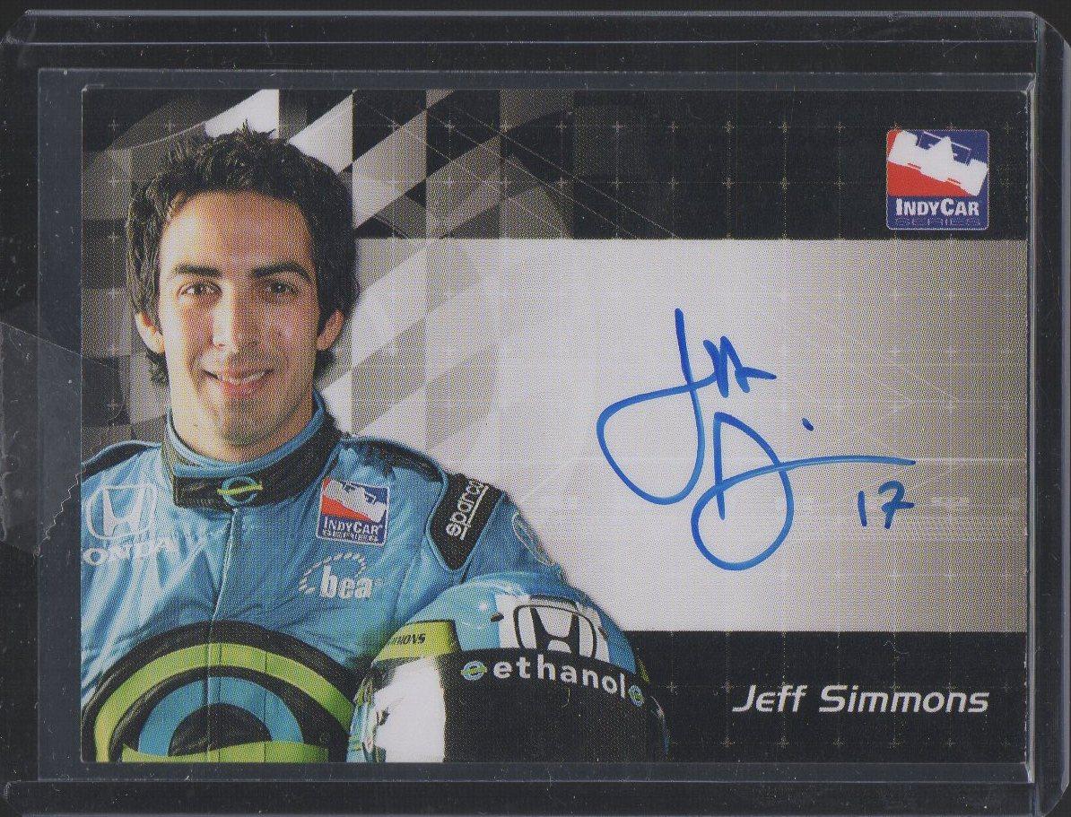 2007 Rittenhouse IRL Autographs #16 Jeff Simmons