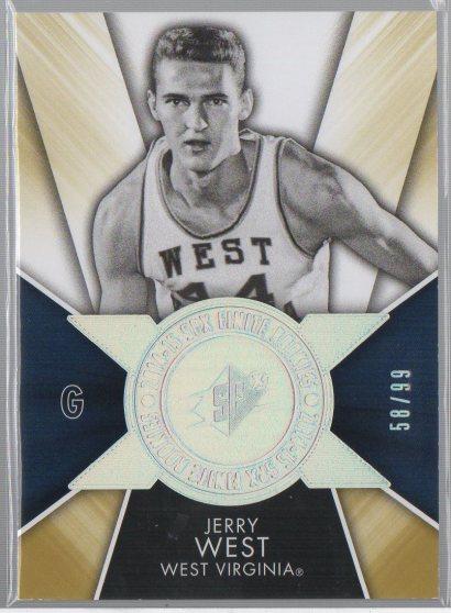 2014-15 SPx Finite Legends Radiance #F-WE Jerry West
