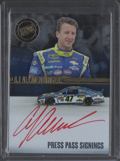 A.J. Allmendinger 2015 Press Pass Signings
