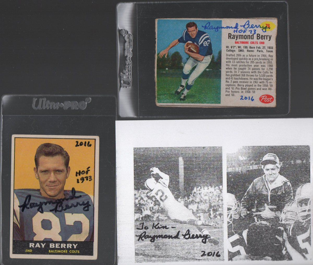 Raymond Berry TTM Autograph Success