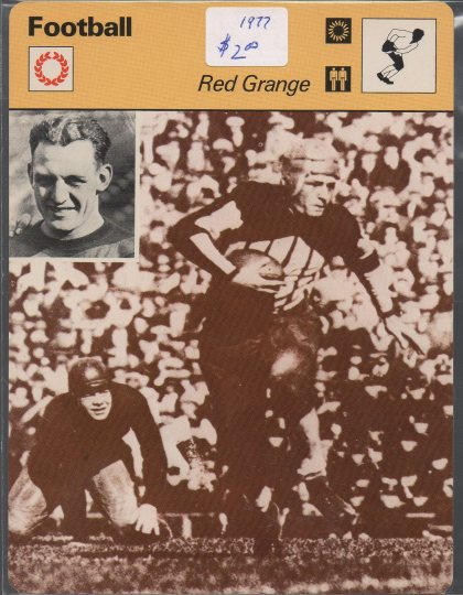 1977-79 Sportscaster Series 6 #613 Red Grange