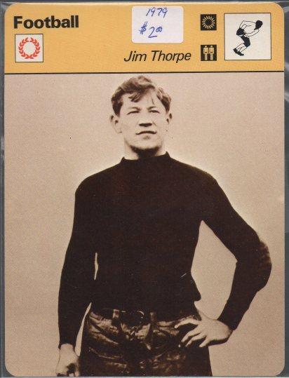 1977-79 Sportscaster Series 54 #5420 Jim Thorpe