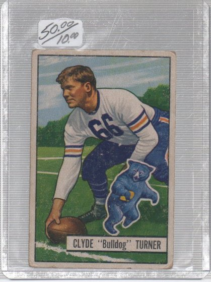 1951 Bowman #13 Bulldog Turner