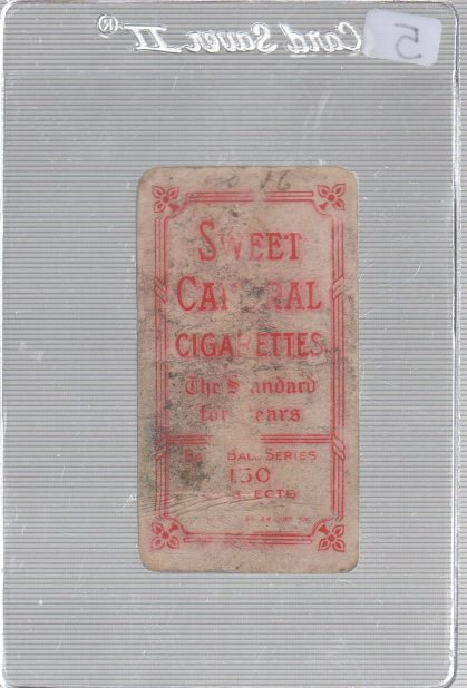 1909-11 The American Tobacco Company T206 White Border #NNO Ed Killian (pitching variation) (back)