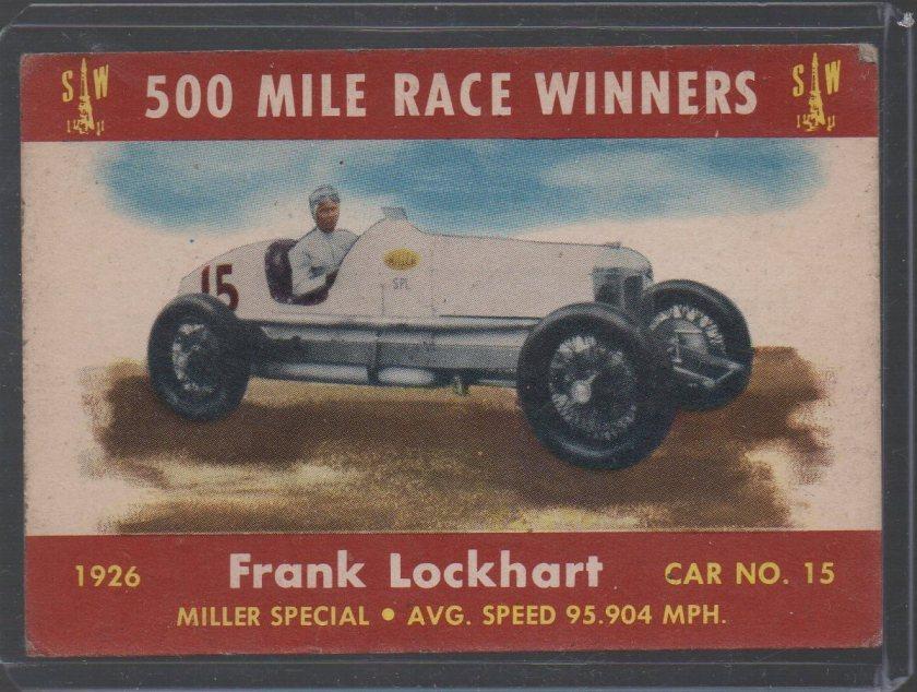1954 Stark and Wetzel Indy Winners #1926 Frank Lockhart