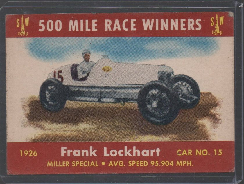 1954 Stark and Wetzel Indy Winners #1926 Frank Lockhart