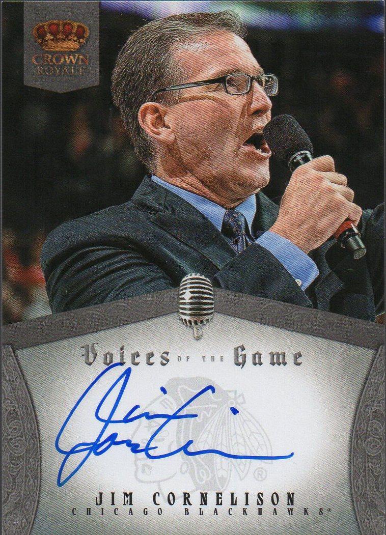2013-14 Crown Royale Voices of the Game Autographs #13 Jim Cornelison