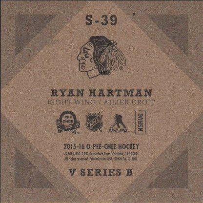 2015-16 O-Pee-Chee V Series B #S39 Ryan Hartman (back)