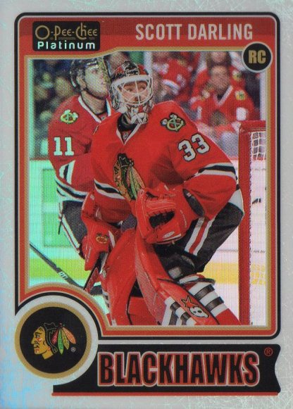 2014-15 O-Pee-Chee Platinum White Ice #151 Scott Darling /199