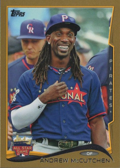 2014 Topps Update Gold #US216 Andrew McCutchen /2014