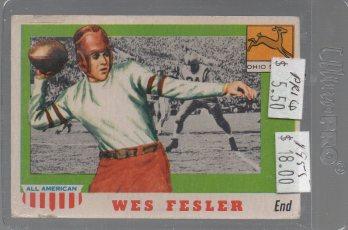 Wes Fesler 1955 Topps All American #30